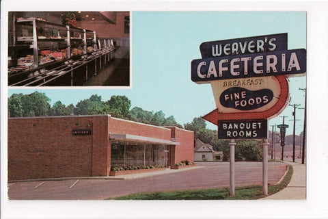TN, Knoxville - Weavers Cafeteria postcard - w01511
