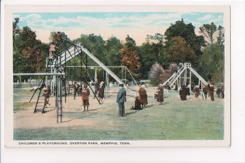 TN, Memphis - Overton Park playground, kids, swings (ONLY Digital Copy Avail) - E10413