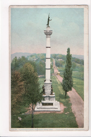 TN, Missionary Ridge - Illinois Monument closeup - w03331