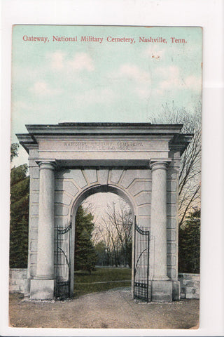 TN, Nashville - National Military Cemetery Entrance - B04294