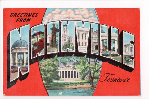 TN, Nashville - Greetings from, Large Letter postcard - B08289