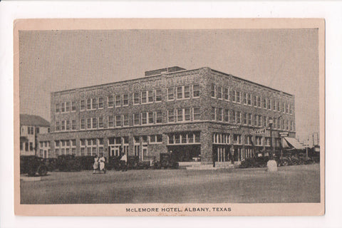 TX, Albany - McLemore Hotel - plain back, but shape of a postcard - G03305