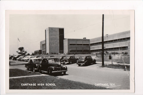 TX, Carthage - Carthage High School RPPC - A06818