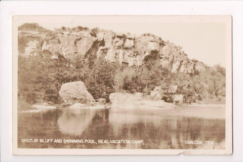 TX, Concan - Neal Vacation Camp - Shut in Bluff and swimming pool - RPPC - C1760