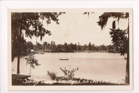 TX, Crockett - Spring Creek Country Club - @1944 RPPC - C17527