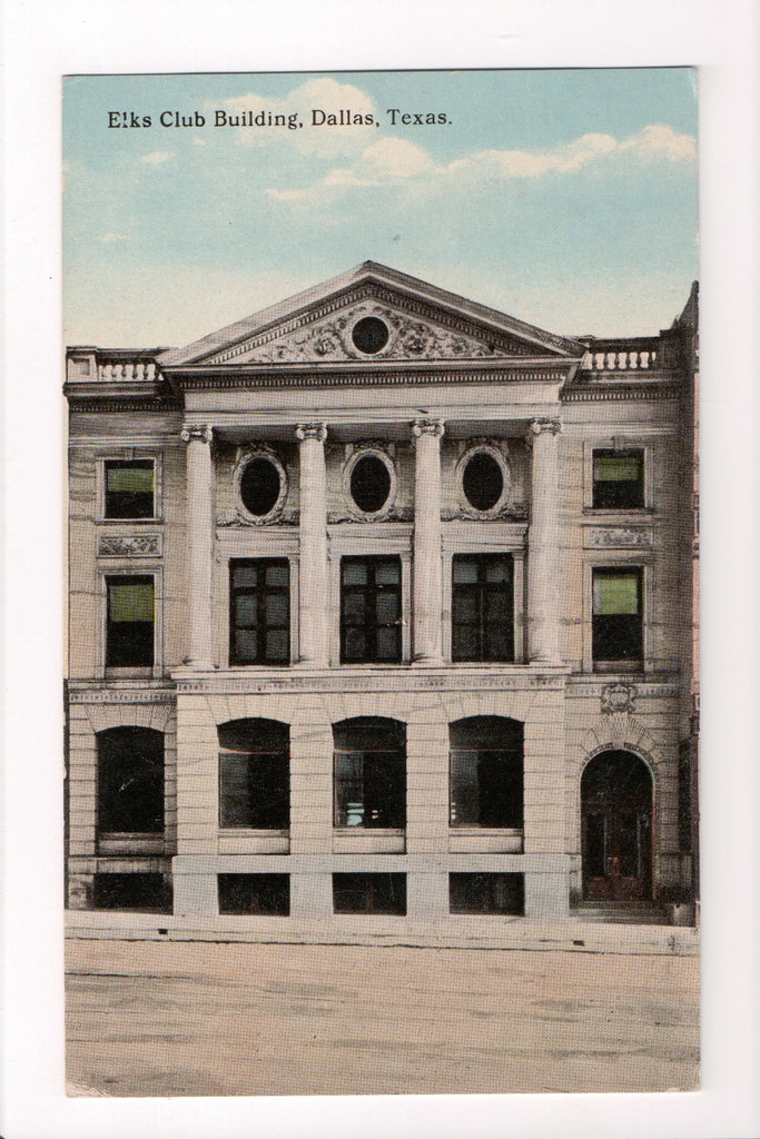 TX, Dallas - Elks Club Building postcard - CP0278