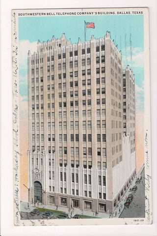 TX, Dallas - Southwestern Bell Telephone Co - @1930 postcard - JJ0657