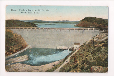 TX, El Paso - Dam at Elephant Butte, building at the base - CR0021