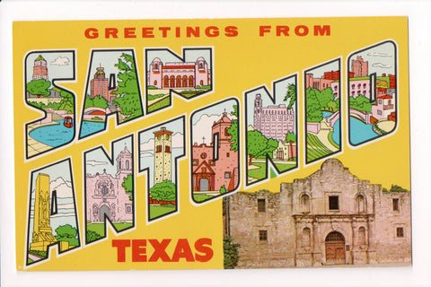 TX, San Antonio - Greetings from, Large Letter postcard - B08275