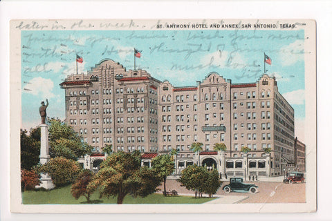 TX, San Antonio - St Anthony Hotel and Annex postcard - CP0261
