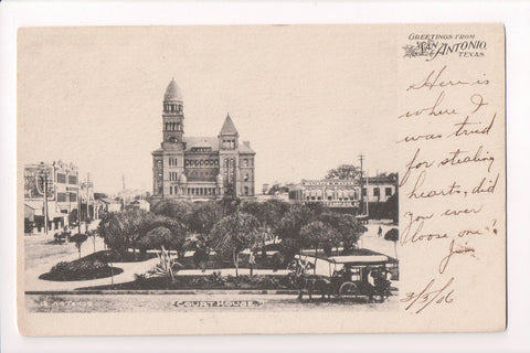 TX, San Antonio - Court House, Greetings from - Nic Tengg - CP0263