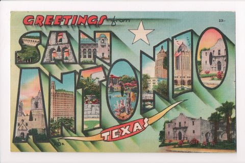 TX, San Antonio - Greetings from, Large Letter postcard - G17035