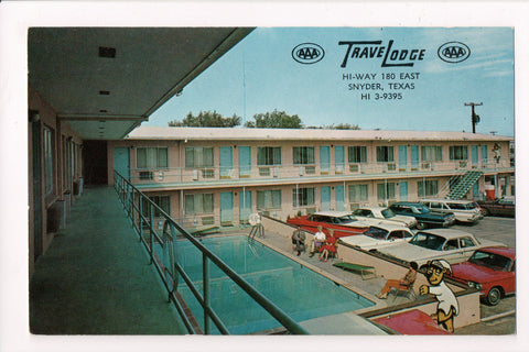 TX, Snyder - TraveLodge on 180 East - pre 1963 postcard - w00633