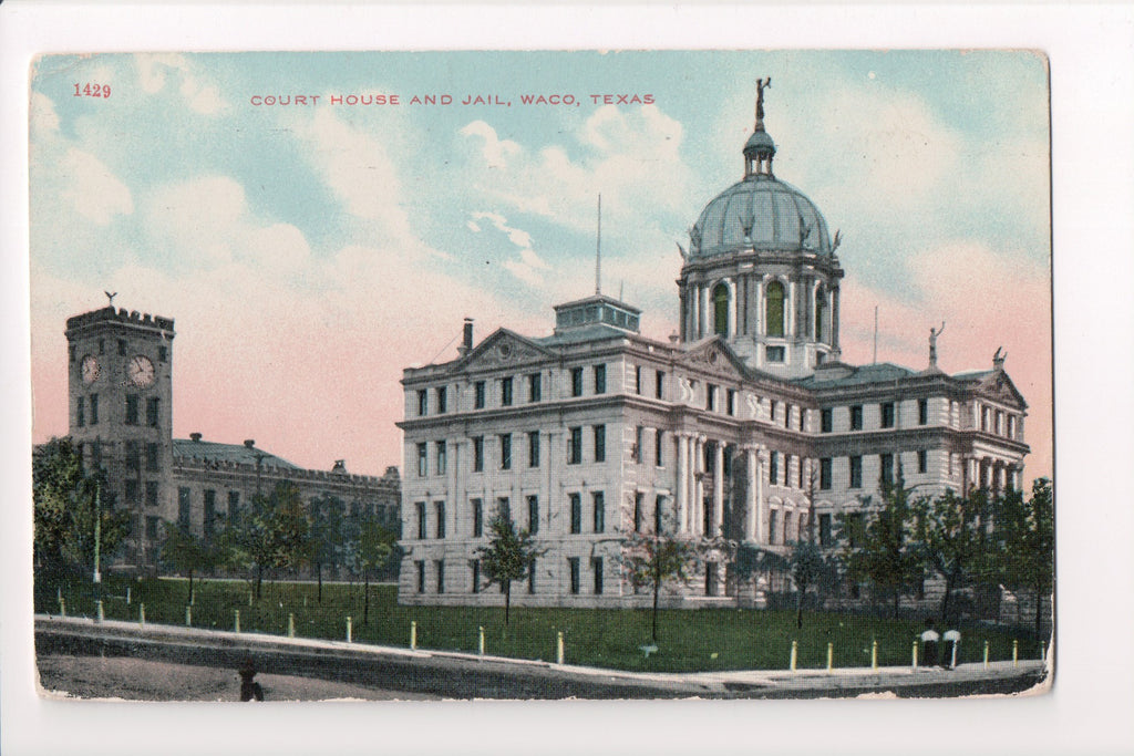 TX, Waco - Court House, Jail - S H Kress postcard - CP0262