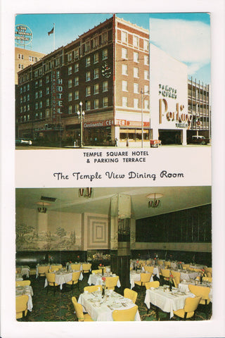 UT, Salt Lake City - Temple Square Hotel and dining room postcard - B08081