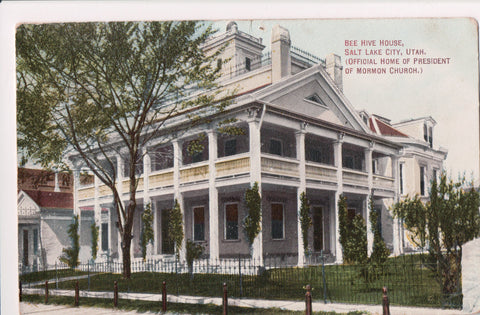 UT, Salt Lake City - Bee Hive House close up postcard - CP0340