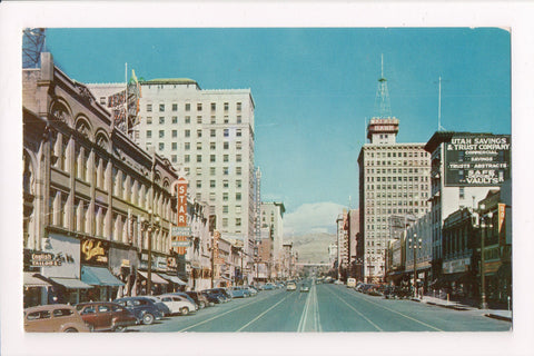 UT, Salt Lake City - Main Street with Signs - @1964 postcard - w03499