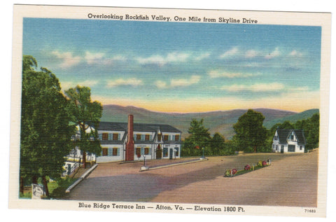 VA, Alton - Blue Ridge Terrace Inn postcard - w02549