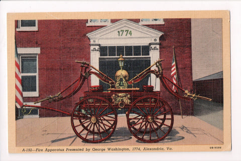 VA, Alexandria - Fire Apparatus Presented by George Washington - F03115
