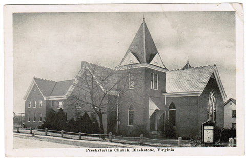 VA, Blackstone - Presbyterian Church postcard - D04255