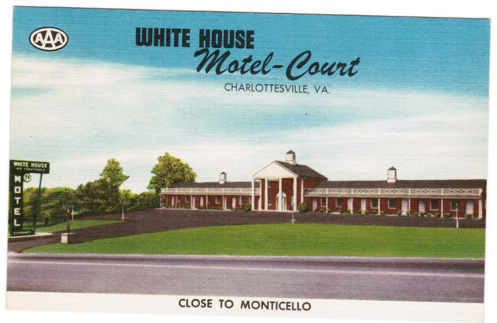 VA, Charlottesville - White House Motel-Court - w02958