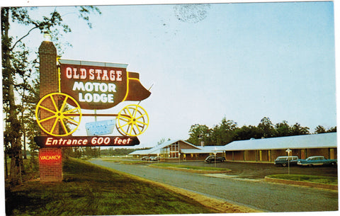 VA, Colonial Heights - Old Stage Motor Lodge, wagon sign - VA0034
