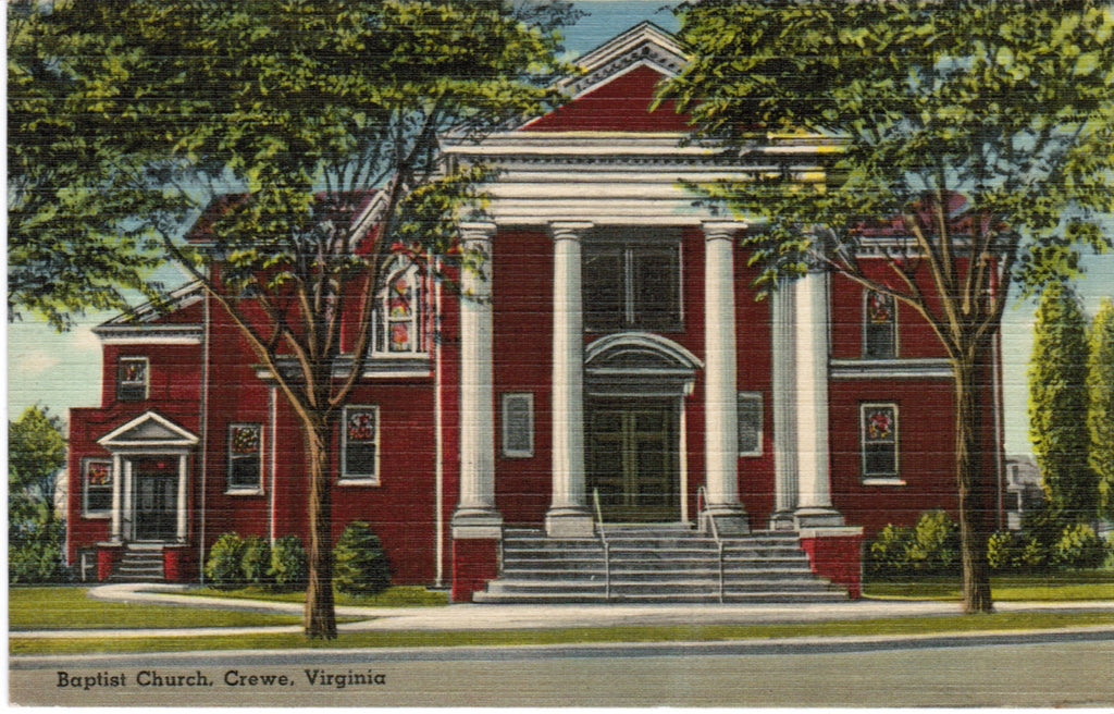 VA, Crewe - Baptist Church postcard - S01691