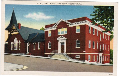 VA, Culpeper - Methodist Church postcard - VA0052