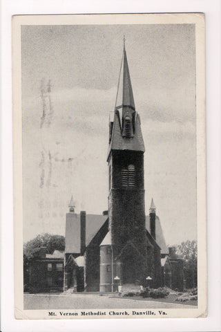 VA, Danville - Mount Vernon Church, @1942 postcard - B17188