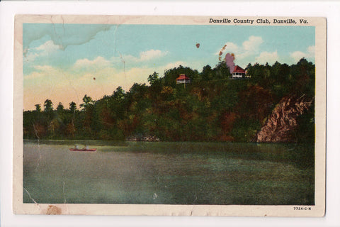 VA, Danville - Danville Country Club - D03077 - postcard **DAMAGED / AS IS**