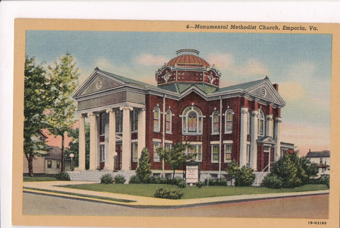 VA, Emporia - Monumental Methodist Church postcard - C04174