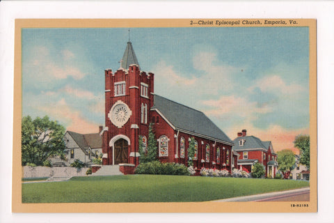 VA, Emporia - Christ Episcopal Church - Harry P Cann postcard - VA0018