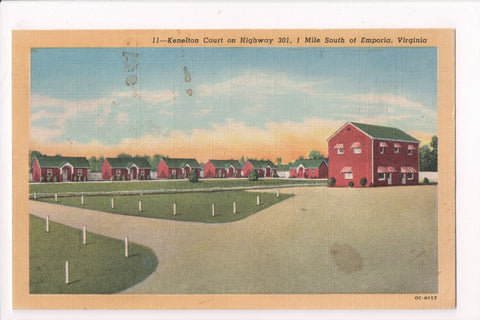 VA, Emporia - Kenelton Court - Harry P Cann postcard - VA0115 **DAMAGED / AS IS*