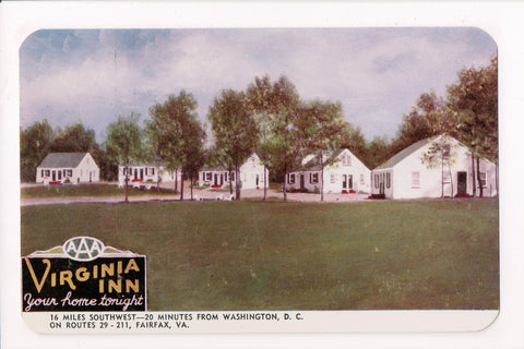 VA, Fairfax - Virginia Inn, vintage postcard - CP0366
