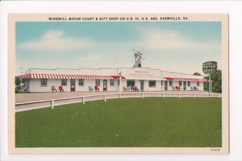 VA, Farmville - Windmill Motor Court and Gift Shop postcard - 800372