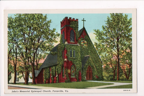 VA, Farmville - Johns Memorial Episcopal Church, @1944 postcard - w00991