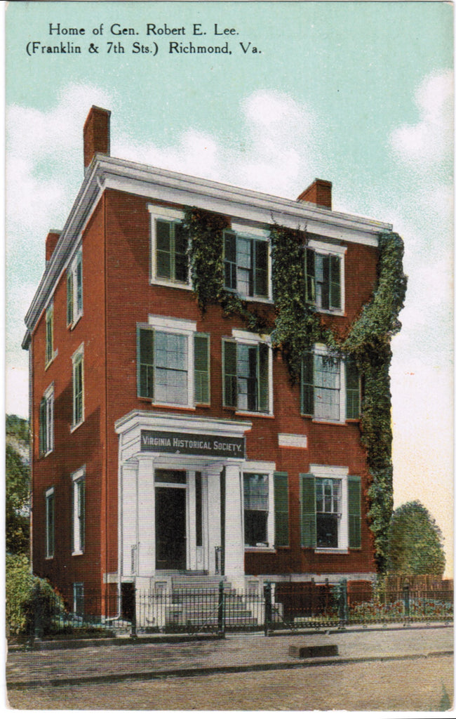 VA, Richmond - Gen Robert E Lee Home (ONLY Digital Copy Avail) - C04111