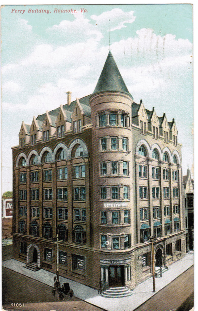 VA, Roanoke - Ferry Building, Bank (ONLY Digital Copy Avail) - E04065