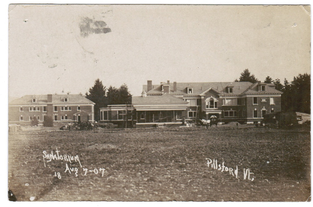 VT, Pittsford - Sanatorium during construction? - RPPC - SH7224