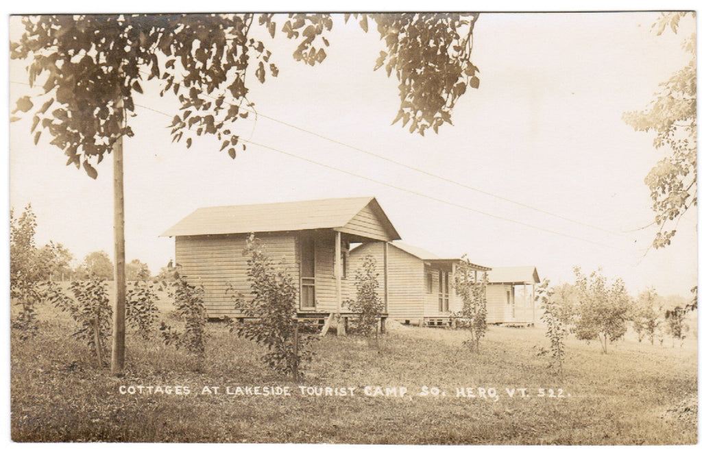 VT, So Hero - Lakeside Tourist Camp Cottages - RPPC - R01070
