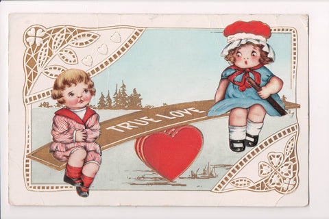 Valentine - True Love - boy, girl on see-saw - Whitney Made - Freixas? - G03005