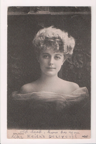 People - Female postcard - Pretty Woman - Edna Hunter w/bare shoulders - W00249