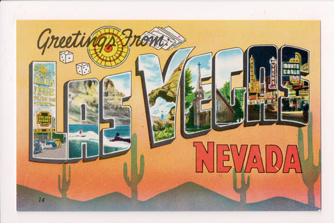 NV, Las Vegas - Greetings From - Large Letter postcard - w00413