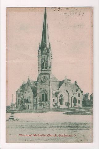 OH, Cincinnati - Westwood Methodist Church - @1912 postcard - w01227