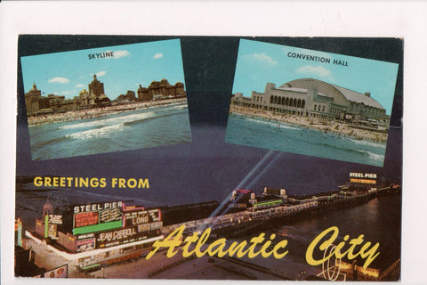 NJ, Atlantic City - Greetings From - multi view postcard - w03066