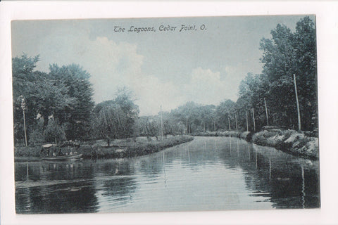 OH, Cedar Point - THE LAGOONS - @1907 postcard - w03340