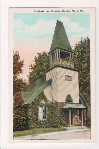 PA, Eagles Mere - Presbyterian Church, 1943 postcard - w03608