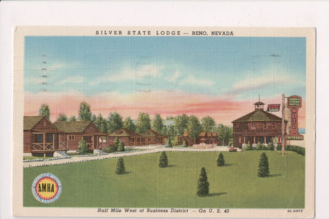 NV, Reno - Silver State Lodge, steam heated cottages @1952 - w04681