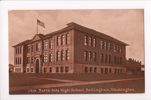 WA, Bellingham - North Side High School - Edward H Mitchell postcard - 800318