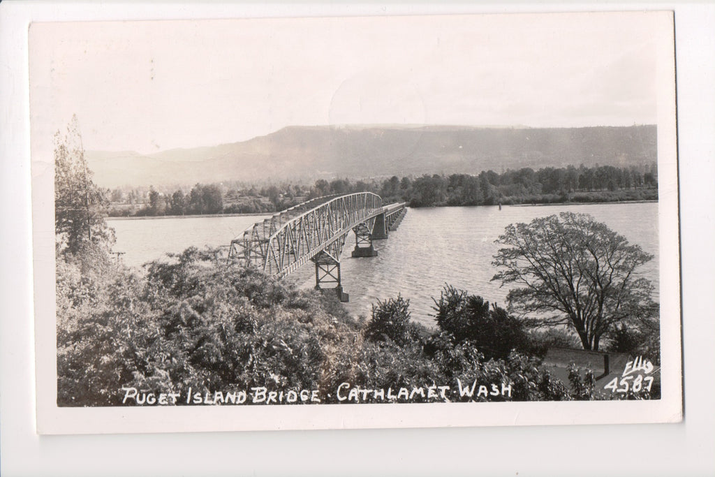WA, Cathlamet - Puget Island (steel) Bridge (ONLY Digital Copy Avail) - D07117